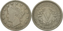 Us Coins - United States, Liberty Nickel, 5 Cents, 1910, U.S.,Philadelphia,VF(20-25),KM 112