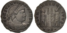 Ancient Coins - Constantine II, Follis, Trier, MS(63), Bronze, RIC:520