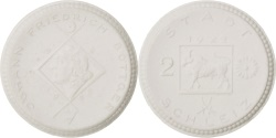 World Coins - Germany, 2 Mark, 1922, , Porcelain, 3.40