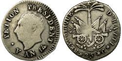 World Coins - Coin, Haiti, 25 Centimes, AN 14, , Silver, KM:15.1
