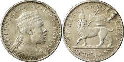 World Coins - Coin, Ethiopia, Menelik II, 1/8 Birr, 1895 (EE 1887), Paris, , Silver