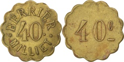 World Coins - France, 40 Centimes, , Brass, Elie #B95.1, 3.16