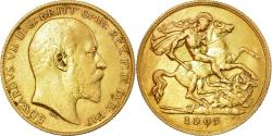 Ancient Coins - Coin, Great Britain, Edward VII, 1/2 Sovereign, 1907, London, , Gold