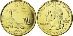 Us Coins - Coin, United States, Maine, Quarter, 2003, U.S. Mint, , Gold plated
