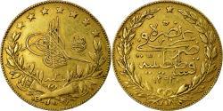 World Coins - Coin, Turkey, Abdul Hamid II, 100 Kurush, 1906, Qustantiniyah, , Gold