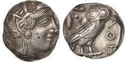 Ancient Coins - Attica, Athens (490-407 BC), Athena, Tetradrachm, Athens, , Silver,...