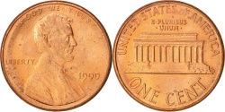 Us Coins - United States, Lincoln Cent, Cent, 1990, U.S. Mint, Philadelphia,