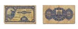 World Coins - Gibraltar, 10 Shillings, 1937, KM #14a, 1937-02-01, VF(30-35), C