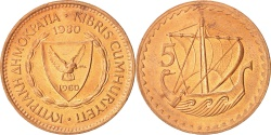 World Coins - Cyprus, 5 Mils, 1980, , Bronze, KM:39