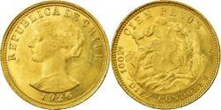 World Coins - Coin, Chile, 10 Condores, 100 Pesos, 1926, Santiago, , Gold, KM:170