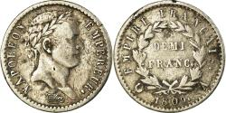 World Coins - Coin, France, Napoléon I, 1/2 Franc, 1809, Paris, , Silver, KM:691.1