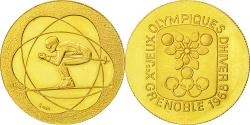 World Coins - France, Medal, Jeux Olympiques Grenoble, 1968, MS(63), Gold