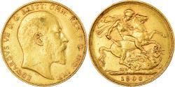 World Coins - Coin, Australia, Edward VII, Sovereign, 1906, Perth, , Gold, KM:15