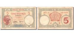 World Coins - Banknote, French Somaliland, 5 Francs, Undated (1927), KM:6b, EF(40-45)