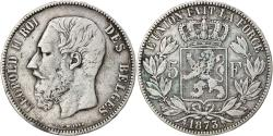 Ancient Coins - Coin, Belgium, Leopold II, 5 Francs, 5 Frank, 1873, , Silver, KM:24