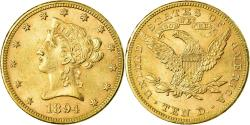 Us Coins - Coin, United States, Coronet Head, $10, Eagle,1894,Philadelphia,,KM 102