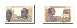 World Coins - West African States, 100 Francs, 1965, KM:801Tf, Undated, AU(50-53)