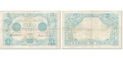 World Coins - France, 5 Francs, 5 F 1912-1917 ''Bleu'', 1915, 1915-11-09, VF(20-25)
