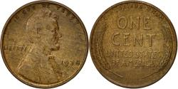 Us Coins - Coin, United States, Lincoln Cent, Cent, 1938, U.S. Mint, Philadelphia