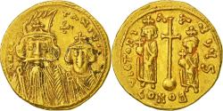 Ancient Coins - Constans II 641-668, Solidus, Constantinople, VF(30-35), Gold, Sear:962