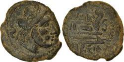 Ancient Coins - Coin, Spain, Carteia, Semis, Ist century BC, , Bronze