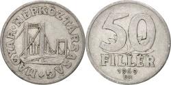 World Coins - HUNGARY, 50 Filler, 1969, Budapest, KM #574, , Aluminum, 21.5, 1.25