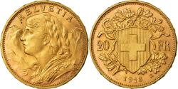 World Coins - Coin, Switzerland, 20 Francs, 1913, Bern, , Gold, KM:35.1