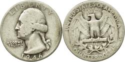 Us Coins - Coin, United States, Washington Quarter, Quarter, 1946, U.S. Mint, Philadelphia