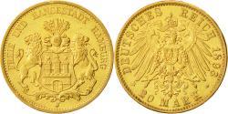 Ancient Coins - Coin, German States, HAMBURG, 20 Mark, 1893, Hamburg, MS(60-62), Gold, KM:618