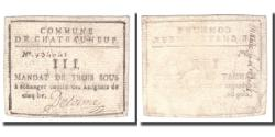 World Coins - France, 3 Sous, Undated (1791-92), CHATEAUNEUF, EF(40-45)