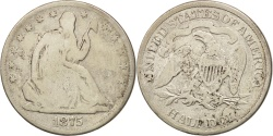 Us Coins - United States, Seated Liberty Half Dollar, 1875, Carson City, KM A99