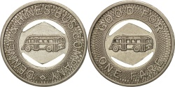 Us Coins - United States, Token, Denney & Hinnes Bus Company
