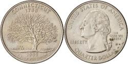 Us Coins - United States, State Quarter, 1999, Denver, Connecticut, KM:297