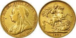 World Coins - Coin, Australia, Victoria, Sovereign, 1899, Perth, , Gold, KM:13