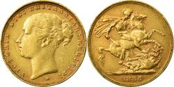 World Coins - Coin, Australia, Victoria, Sovereign, 1886, Melbourne, , Gold, KM:7