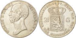 World Coins - Coin, Netherlands, William II, 2-1/2 Gulden, 1845, , Silver, KM:69.2