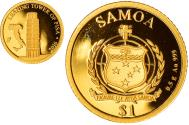 World Coins - Coin, Samoa, tower of Pisa, Dollar, 2016, , Gold