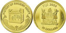 World Coins - Coin, Fiji, 10 Dollars, 2015, Sarcophage, , Gold