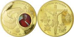 World Coins - Vatican, Medal, Le Pape Jean-Paul II, 2005, MS(65-70), Copper Gilt