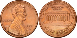 Us Coins - United States, Lincoln Cent, 1991, Denver, , KM:201b
