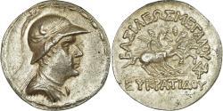 Ancient Coins - Coin, Baktrian Kingdom, Eukratides I, Tetradrachm, 170-145 BC,