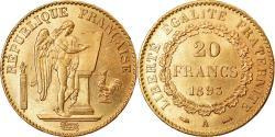 Ancient Coins - Coin, France, Génie, 20 Francs, 1893, Paris, , Gold, KM:825