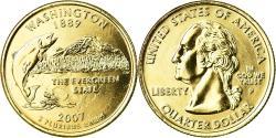 Us Coins - Coin, United States, Quarter, 2007, U.S. Mint, Philadelphia, golden,