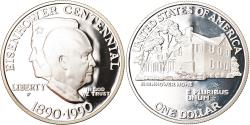 Us Coins - Coin, United States, Eisenhower centennial, Dollar, 1990, Philadelphia, Proof