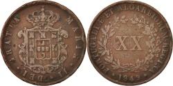 World Coins - Portugal, Maria II, 20 Reis, 1849, , Copper, KM:482