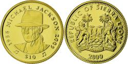 World Coins - Coin, Sierra Leone, Mickael Jackson, 10 Dollars, 2009, Proof, , Gold