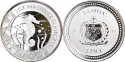 World Coins - Coin, Samoa, Seahorse, 2 Tala, 2018, 1 Oz, , Silver
