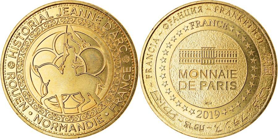 World Coins - France, Token, Rouen - Historial de Jeanne d'Arc n°2, 2019, MDP,