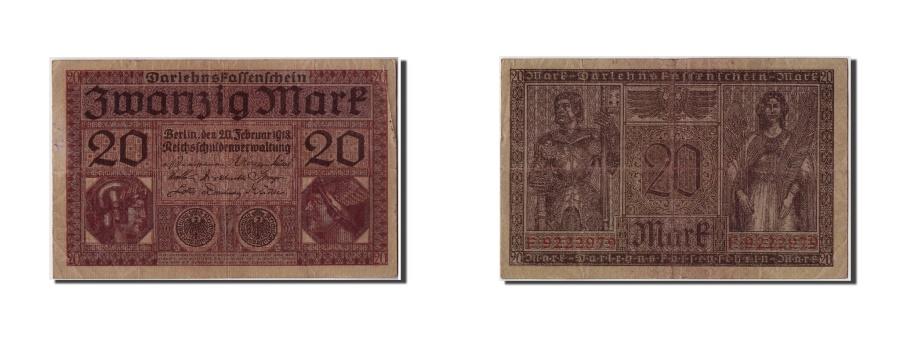 World Coins - Germany, 20 Mark, 1918, KM:57, 1918-02-20, VF(20-25)