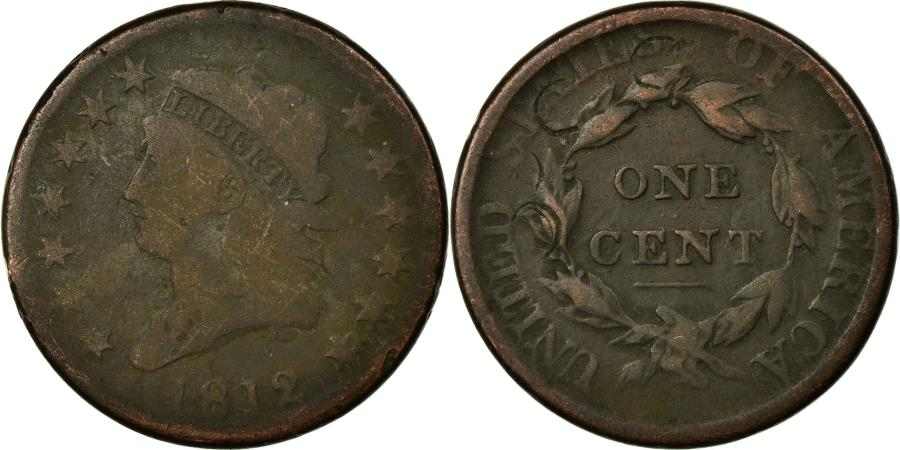 US Coins - Coin, United States, Classic Head Cent, 1812, Philadelphia